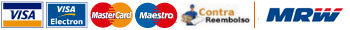 Sistemas de pago aceptados: PayPal, Visa, Mastercard, contra-reembolso